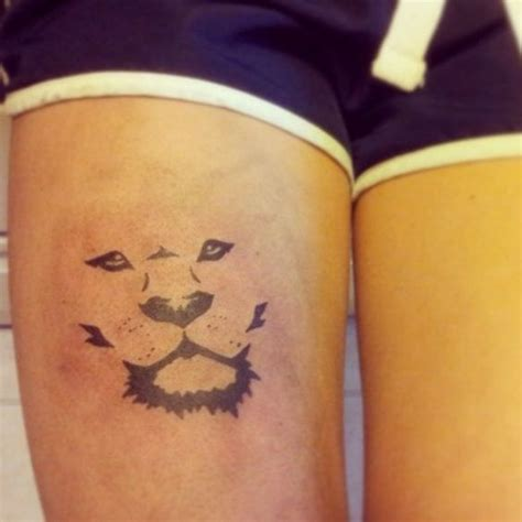 simple tattoo on thigh very simple and meaningful tattoo on a womans thigh the