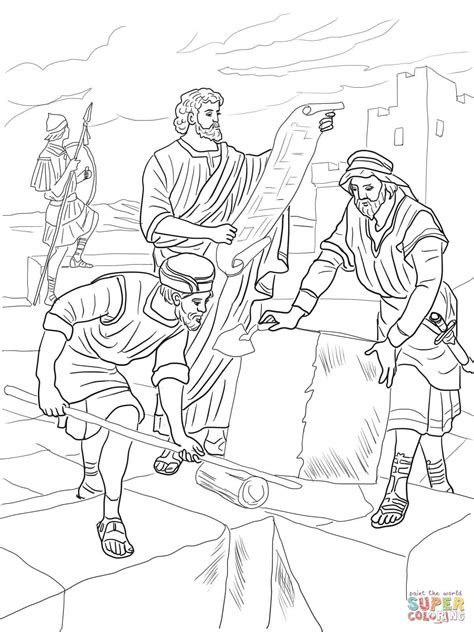 coloring page for nehemiah 1 nehemiah rebuilding the walls of jerusalem coloring page