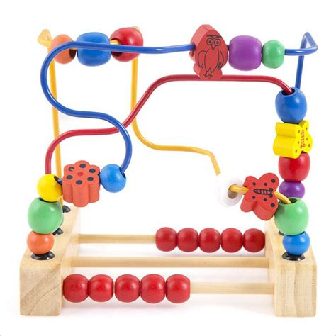 baby wooden wooden bead maze child wooden