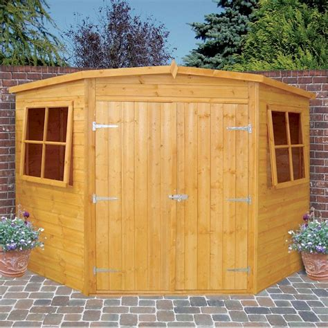 Plastic Corner Shed by Shire Corner Shed 7x7 One Garden