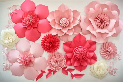 Wedding Backdrop With Paper Flowers by Paper Flower Backdrop Wedding Centerpiece Paper