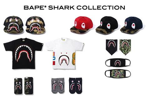 Iphone 6 6s Bape Bathing Ape Stickerbomb Shark Hardcase Cover bape 174 shark collection us bape