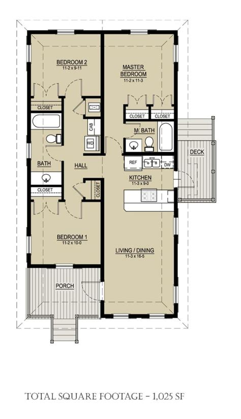 house plans 3 bedroom 1 bathroom