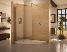 Walk In Shower Wall Options Doorless Shower Designs Teach You How To Go With The Flow