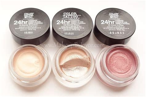 Eyeshadow Gel makeupbyjoyce review swatches maybelline color metal 24hr gel eyeshadow