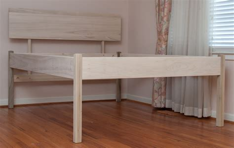 raised platform bed diy stained wood raised platform bed frame finished the with interalle com