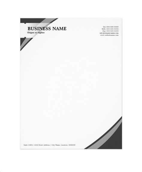 headed business letterhead template 15 professional letterhead templates free sle