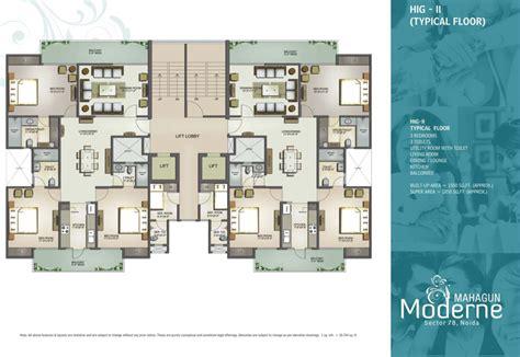 plan com floor plans mahagun moderne sector 78 noida mahagun