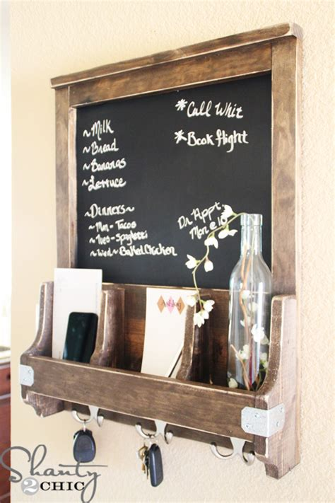 diy chalkboard shelf diy chalkboard and key hooks shanty 2 chic