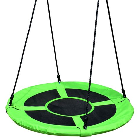 round swing 100cm green round mat nest swing heavenly hammocks