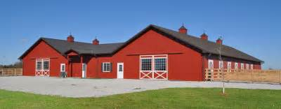 Post frame steel buildings ag equestrian commercial wick
