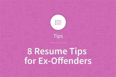 Resume Writing Tips For Ex Offenders 8 Resume Tips For Ex Offenders Myperfectresume