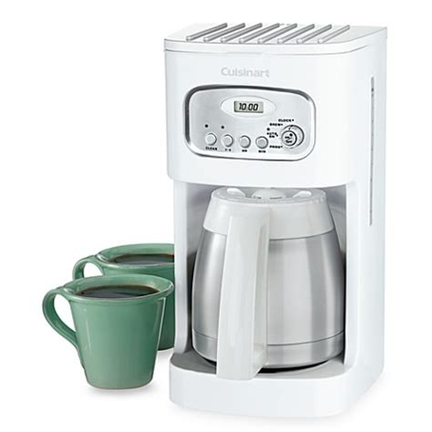 cuisinart coffee maker bed bath and beyond cuisinart 174 thermal 10 cup programmable coffee maker in