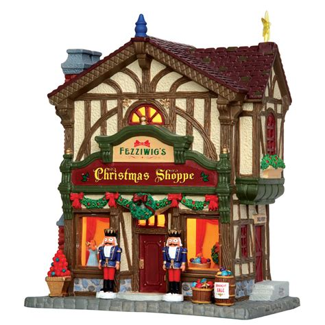lemax lights lemax fezziwig s shoppe lighted building 45742 bosworths shop