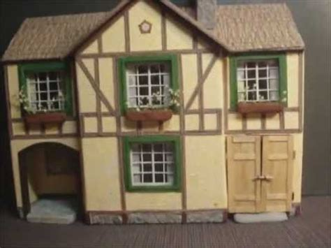 How To Make A Model House Out Of Paper - paper model house tudor style avi