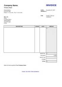Invoice Template Excel Free by Blank Invoice Excel Free To Do List