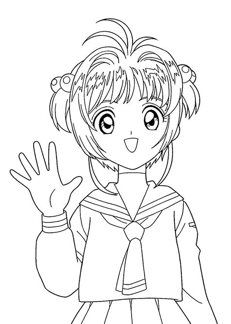 Cardcaptor Coloring Pages by Coloring Pages For Printable Free Color