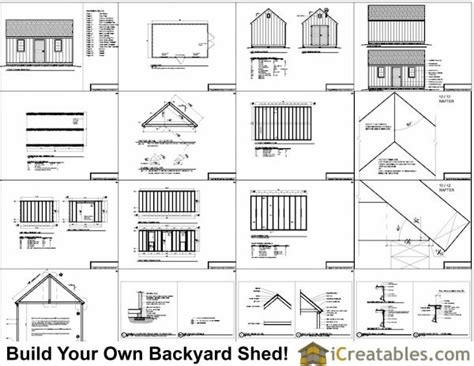 Material List For 12x16 Shed by Diy 12x16 Shed Plans Pdf Plans Free