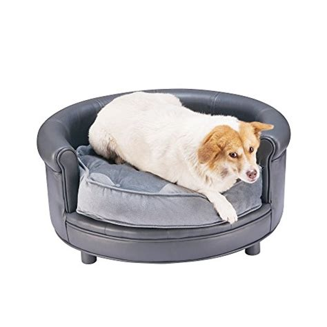 pet bed sofa chesterfield real faux leather large dog bed designer pet