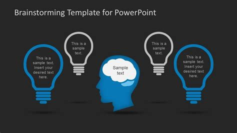 Brainstorming Ideas Record Slide Design For Powerpoint Slidemodel Brainstorming Template Powerpoint