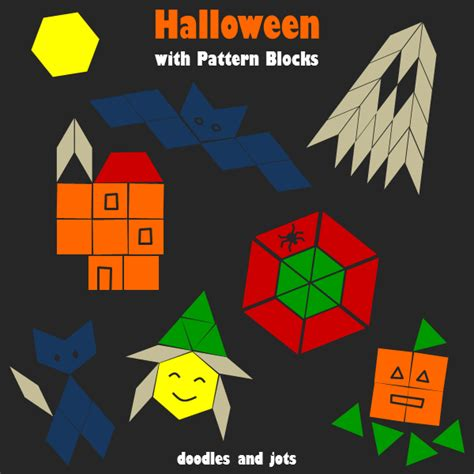halloween with pattern blocks doodles and jots