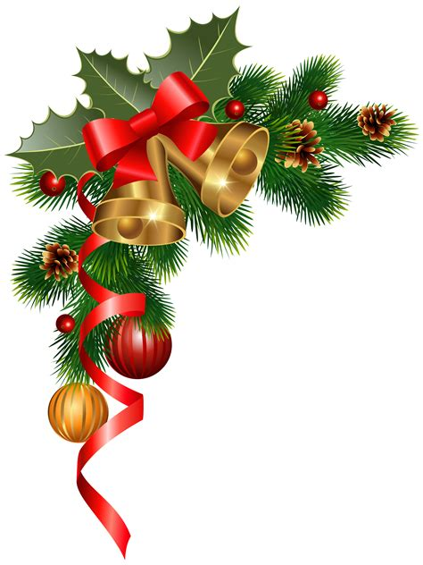 christmas ornaments clipart corner border pencil and in