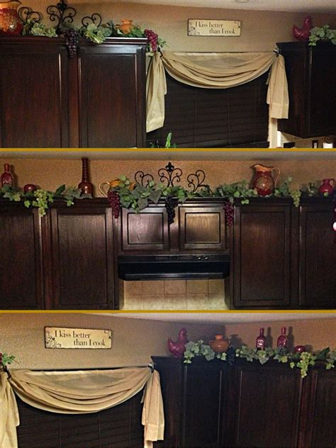 grape home decor decor on top on kitchen cabinets grapes vines and