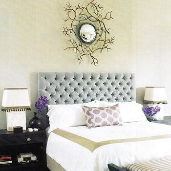 light blue tufted headboard blue and gray bedroom transitional bedroom m frederick