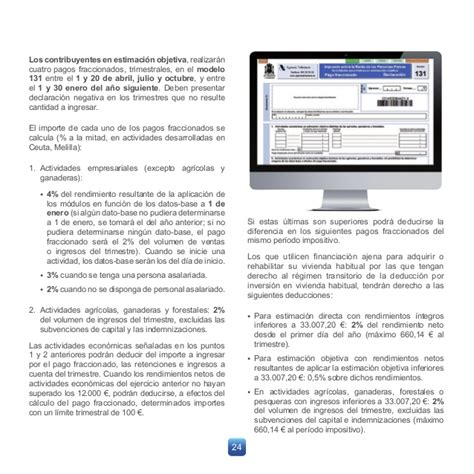 irpf modelo 100 folleto actividades econ 243 micas agencia tributaria