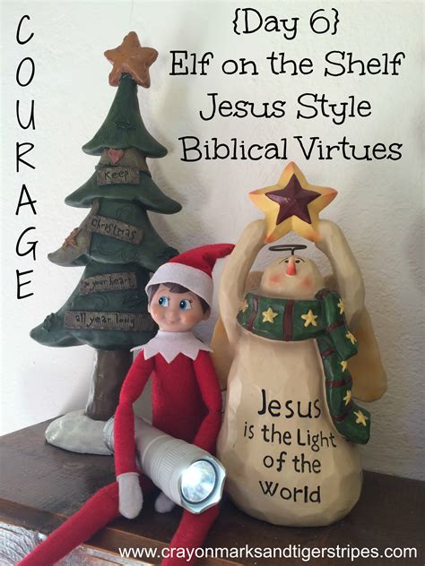 Jesus On The Shelf by On The Shelf Jesus Style Biblical Virtues Courage