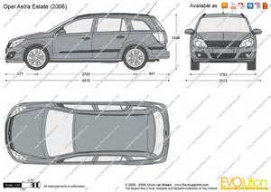 Opel Astra H Dimensions The Blueprints Vector Drawing Opel Astra H Estate