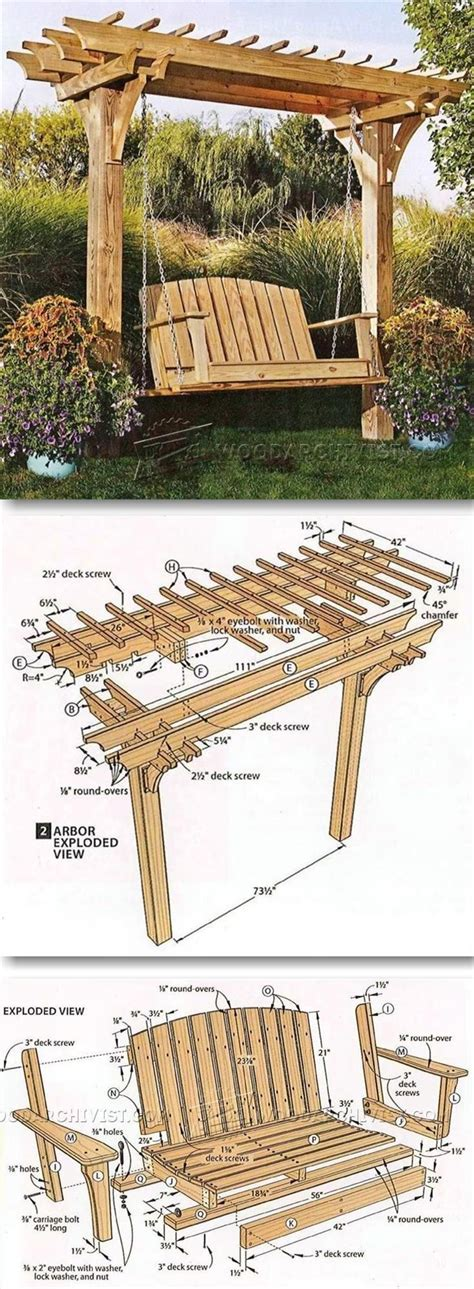 swing plans woodworking arbor swing plans outdoor furniture plans projects