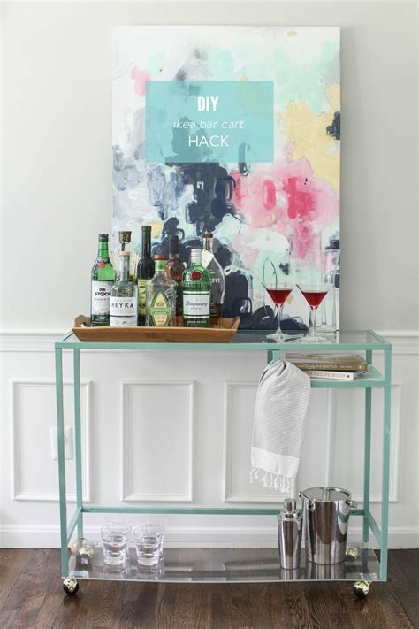 ikea hack bar diy ikea bar cart hack read more design pinterest