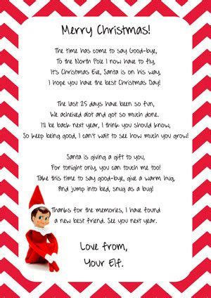 free printable elf on the shelf goodbye poem m 225 s de 1000 ideas sobre carta de despedida de elfos en
