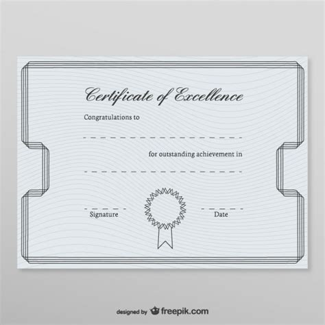 honorary certificate template vector free download