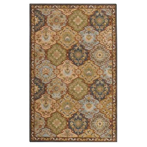 floor rugs home depot home decorators collection grandeur blue multi 9 ft x 12 ft area rug 0167360310 the home depot