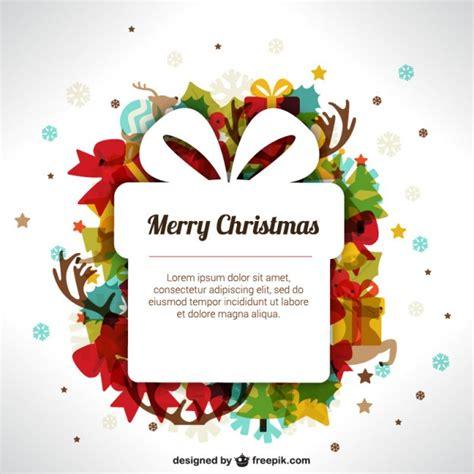 Modelo do Natal com caixa de presente   Baixar vetores grátis