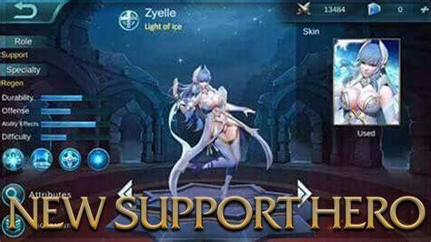 mobile legends  support hero zyelle light  ice