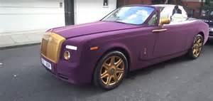 Purple Rolls Royce Purple Velvet And Gold Rolls Royce Phantom