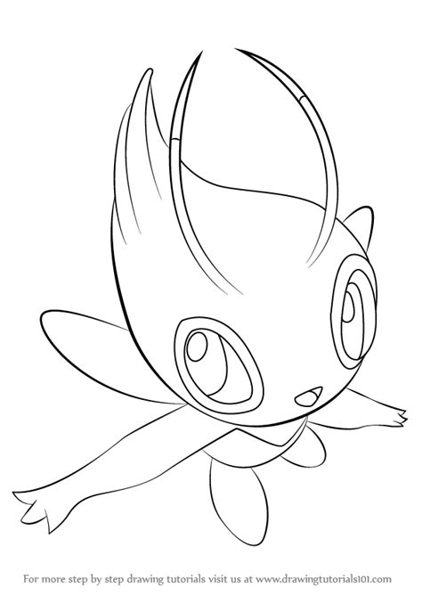 pokemon coloring pages celebi learn how to draw celebi from pokemon pokemon step by
