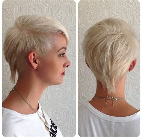 Hairstyle Tapered Mullet by S Edgy Platinum Textured Mullet With Tapered Sides
