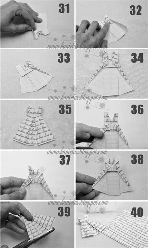 How To Make A Paper Dress - haniela s origami dress tutorial