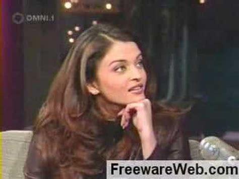 aishwarya rai in david letterman aishwarya rai burned by david letterman twice youtube