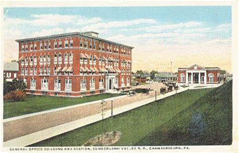 Post Office Chambersburg Pa by Cumberland Valley Railroad Chambersburg