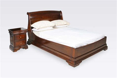 mahogany bed frame normandie mahogany 6ft super king sleigh bed frame