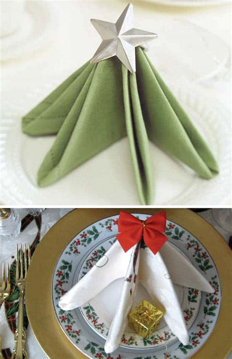 super delicate napkin ideas   christmas table setting homesthetics inspiring ideas