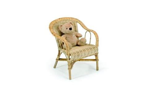 fauteuil enfant rotin crapaud naturel
