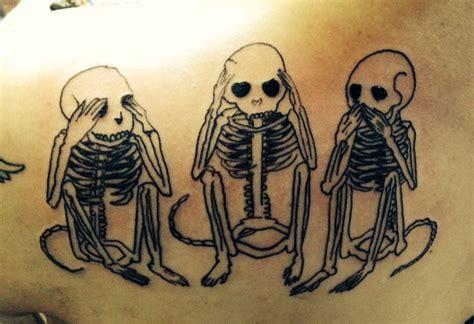 monkey bones tattoo 21 best hear no evil images on design tattoos