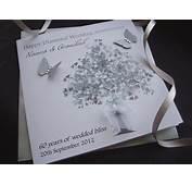 Diamond Heart Tree Wedding Anniversary Card  Handmade