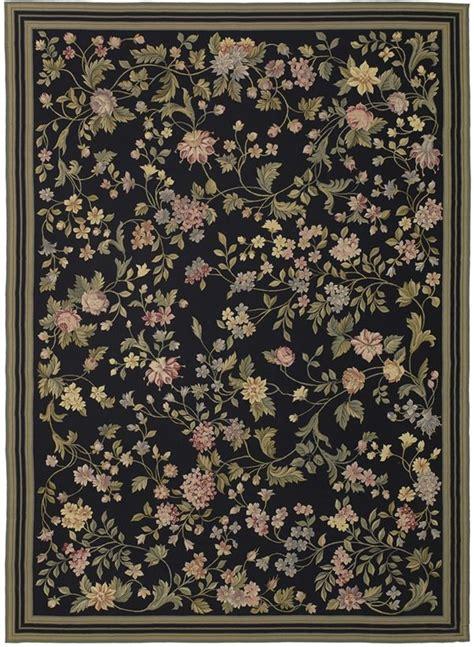 black margate needlepoint rug     cream